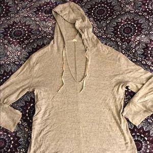 Women's J.crew 3/4 sleeve hoodie sweater top